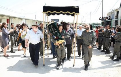 Turning 70 with a Special Torah Dedication at Telem Base