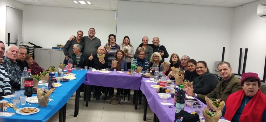 Festive Tu B'shvat Evening for the Deaf in Petach Tikvah