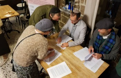 Tzfat Community Hosts Inaugural Postnuptial Signing Party!