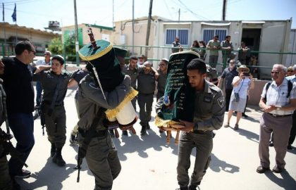 Two Torah Scrolls Join the IDF