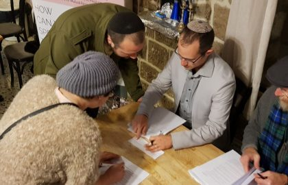 Postnuptial Signing Party <br>March 8, 2018 – Tzfat</br>